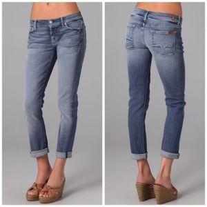7FAM Sz 28 Josefina Skinny Boyfriend Stretch Jeans